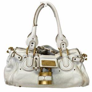 Chloe Satchel bag Paddington white leather